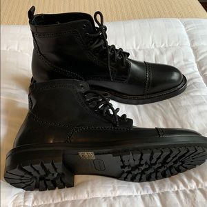 Marc Jacobs black leather boots size 12 new